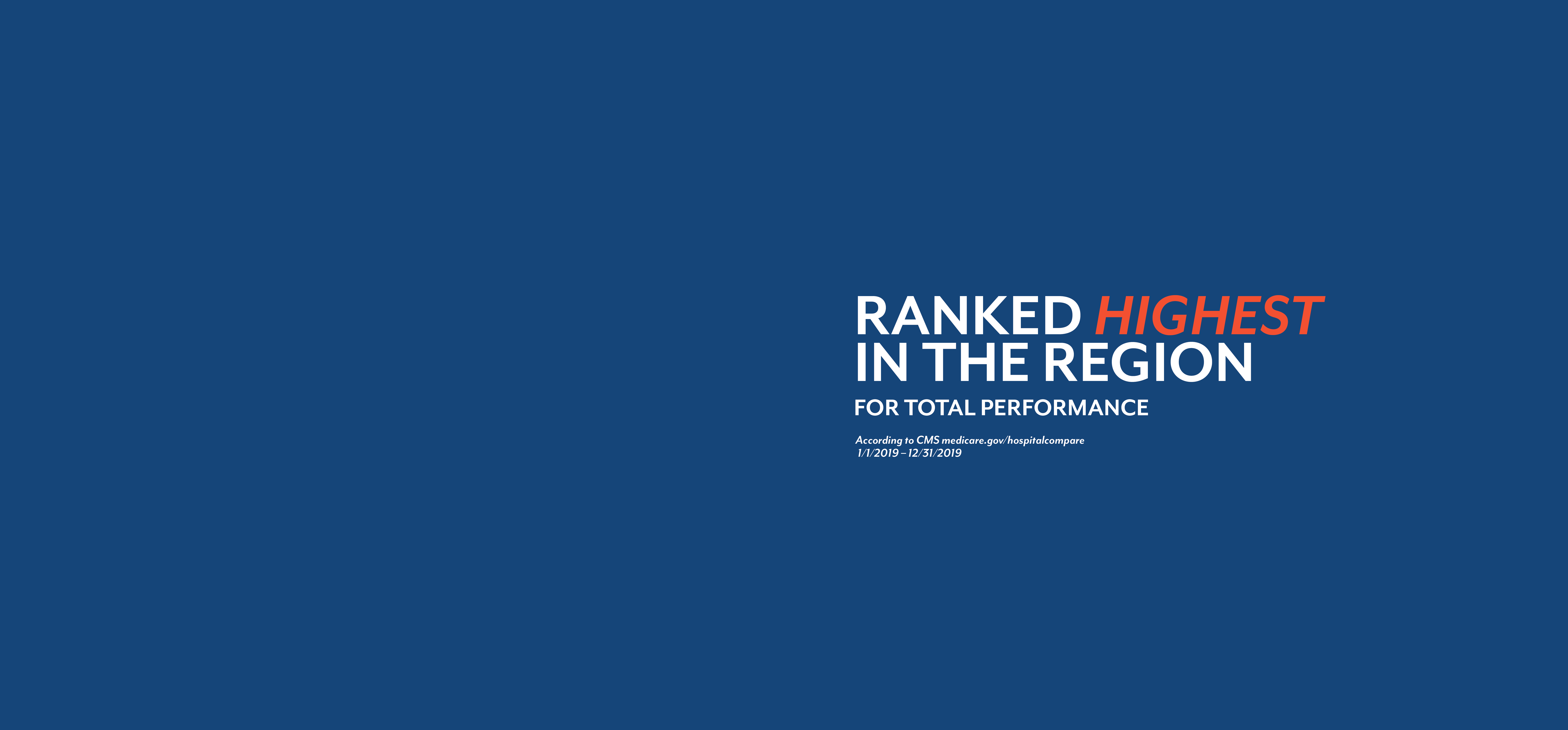 Ranked Highest in the Region
